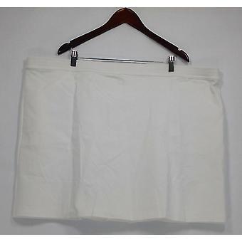 Liz Claiborne New York vrouwen ' s plus shorts Ponte Knit skort wit A263460