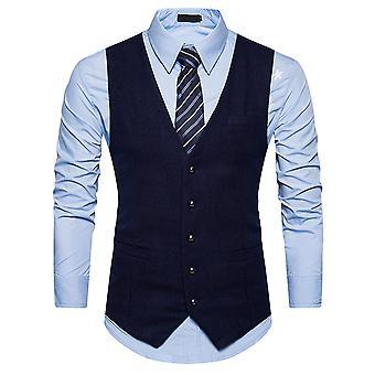 Allthemen Men's Anzug Weste V-Ausschnitt Slim Fit Business Casual Waistcoat