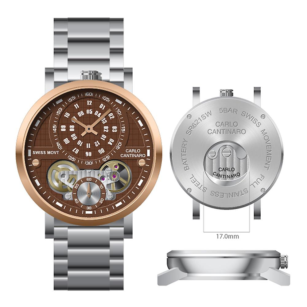 Carlo Cantinaro CC1004GB004 Herrenuhr Quartzmatic GMT