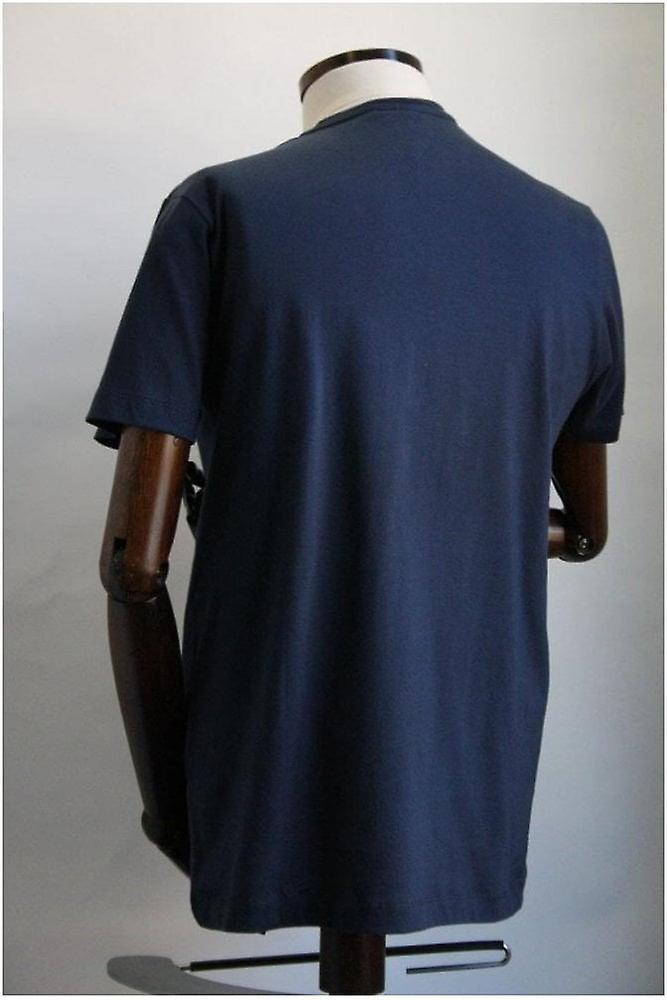 Merc London Keyport Navy Blue Cotton T-Shirt