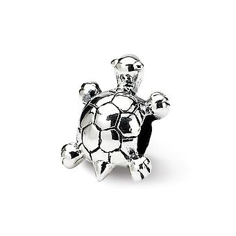 925 Sterling Silver Polished Reflections SimStars Kids Turtle Bead Charm Pendant Necklace Jewelry Gifts for Women
