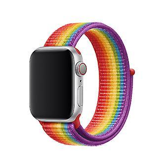 Til Apple Watch 38/40mm nylon løkke med velcro fastgørelse Pride