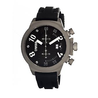 Breed Arnold Chronograph Men's Watch w/ Date-Black