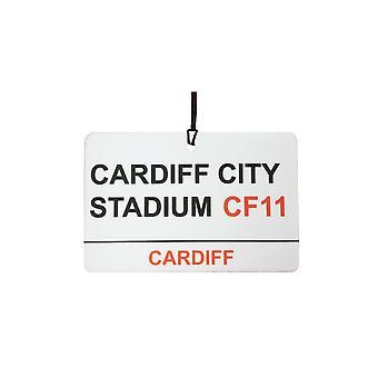 Cardiff City Stadium Street Sign bil Air Freshener