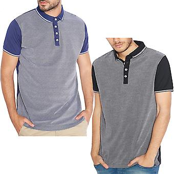 Brave Soul Mens Alias Short Sleeve Buttoned Casual Cotton Polo Shirt T-Shirt Top