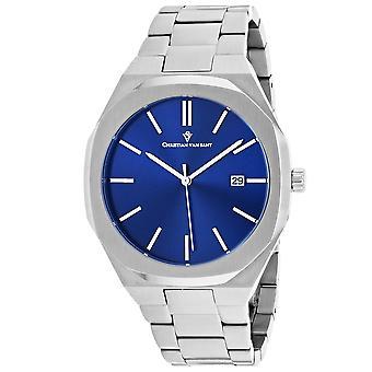Christian Van Sant Men-apos;s Octavius Slim Blue Dial Watch - CV0522