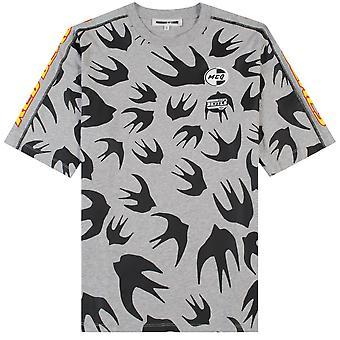 Mcq Alexander Mcqueen McQ Alexander McQueen Multi Bird Logo T-shirt Grey