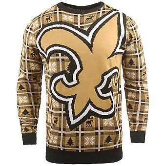 NFL Ugly Sweater XMAS Knit Sweater - New Orleans Saints