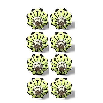 """1.5"""" x 1.5"""" x 1.5"""" Lemon, Black And Silver - Knobs 8-Pack"""