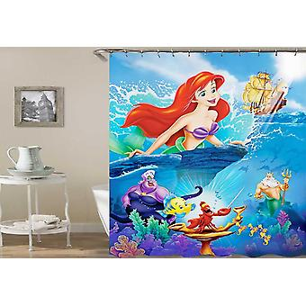 Colorful Little Mermaid Shower Curtain