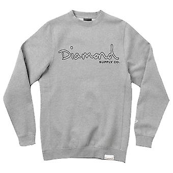 Diamond Supply Co. OG Script Trace Sweat-shirt gris chiné