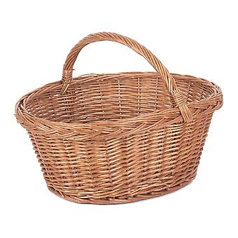 Country Village Wicker Shopping Basket