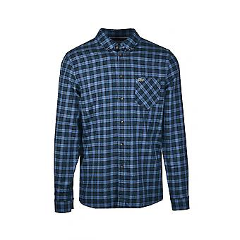 Lacoste Check Shirt Navy Blue