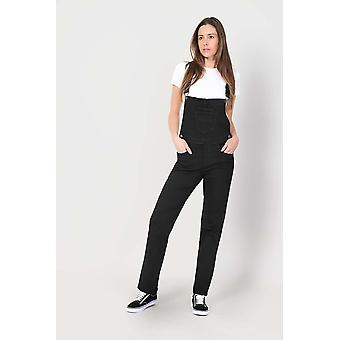 Dames regular fit salopette-zwart