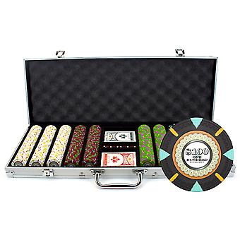 500Ct Claysmith Gaming 'The Mint' Chip Set in Aluminum