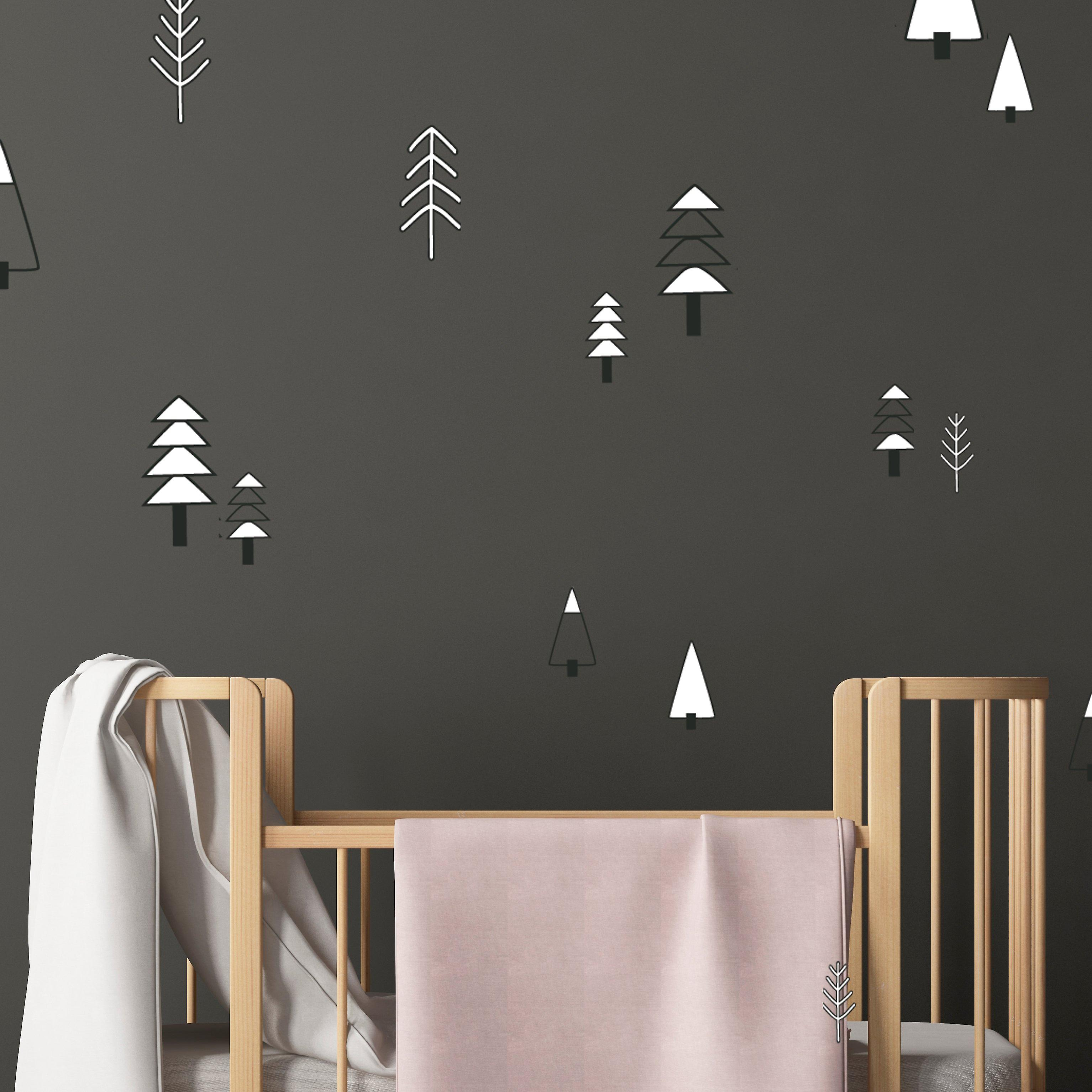 Nordic trees wall decal set
