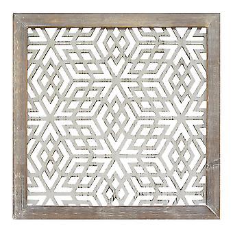 Wood Framed & Metal Laser-Cut Wall Decor