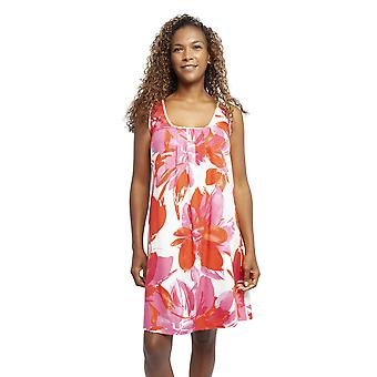 Cyberjammies 4359 Women's Amber Pink Floral Print Cotton Chemise