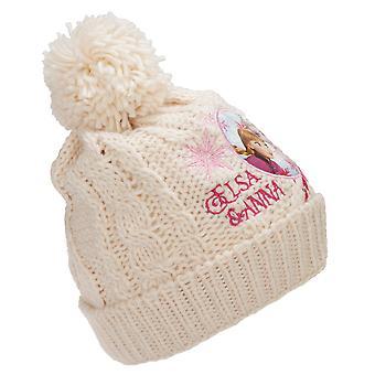 Chapeau congelé d'enfants/enfants Anna et Elsa tricoté chapeau de bobble