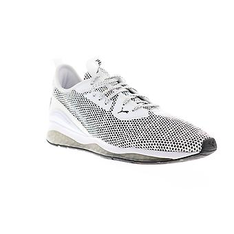 Puma Cell Descend  Mens White Canvas Lace Up Athletic Running Shoes