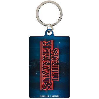 Stranger saker metal nyckel ring logo