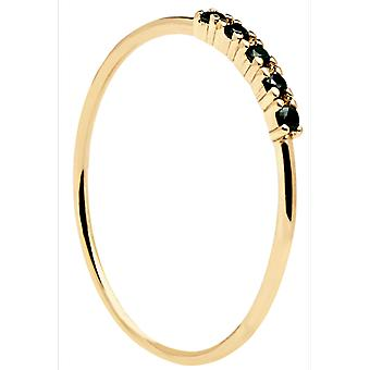 PD Paola Ring AN01-118 - Mor silver MISTY with black zirconium oxides Women