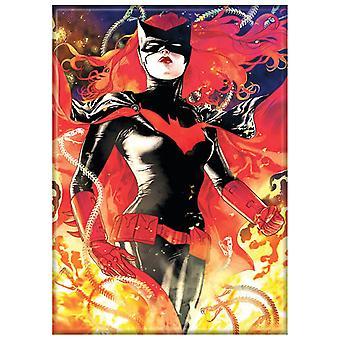 Batwoman Flammen Magnet