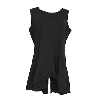 Kathleen Kirkwood Women's Top Flirty Peplum Tank Black A311147