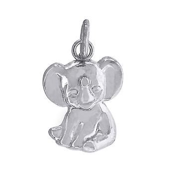 10k White Gold Mens baby for boys or girlsElephant Animal Charm Pendant Necklace Measures 17.7x10.10mm Wide Jewelry Gift