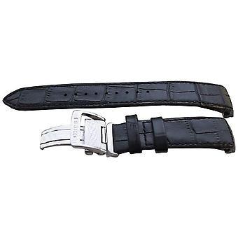 Authentische Seiko Uhrenarmband 21mm Alligatorkorn - schwarz 4a072jl
