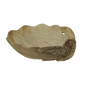 Decorative Wooden Sea Turtle Seashell Bowl
