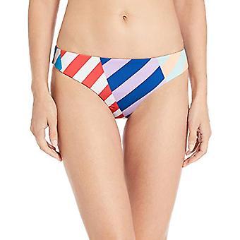 Bikini Lab Women's Hipster Pant Bikini Bottom,, Multi//Biased Stripe, Size Large