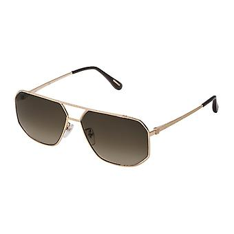 Dunhill SDH191 300Y Shiny Rose Gold/Brown Gradient Sunglasses