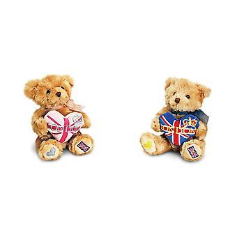 Keel Toys Teddybeer met London Heart Pluche Speelgoed