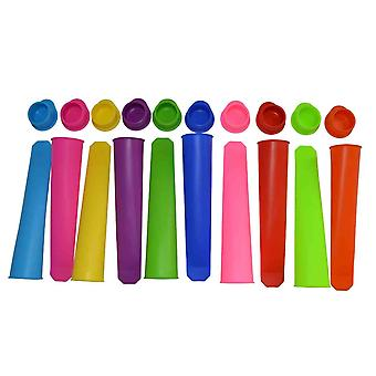 10 Pieces - Silicone Ice Pop Maker Set Ice Pop Forms Molds Popsicles Very Easy To Clean.