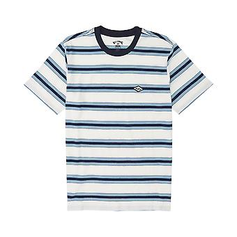 Billabong Die Cut Stripe korte mouw T-shirt in de sneeuw