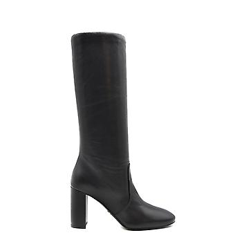 Prada Ezbc021033 Kvinnor's svarta läderstövlar