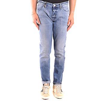Pt05 Ezbc084060 Men's Blue Cotton Jeans