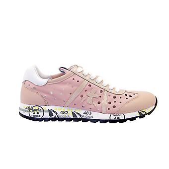 Premiata Lucy4639 Dames's Pink Leather Sneakers