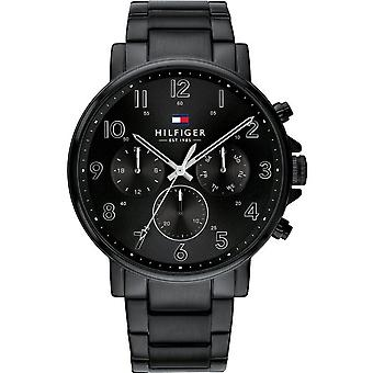 Tommy Hilfiger Watches 1710383 Daniel Black Stainless Steel Men's Watch