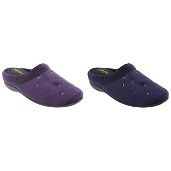 Sleepers Womens/Ladies Charley Extra Comfort Memory Foam Velour Mule Slippers