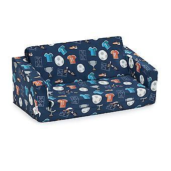 Ready Steady Bed Kids Mini Fold Out Lounger (fr) Chaise de siège de lit de sofa d'enfants Idéal pour le salon des enfants de la salle de jeux (en anglais seulement) Ergonomique conçu (Champion)