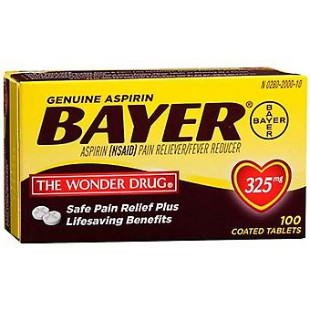 Bayer genuine aspirin pain reliever, 325 mg, tablets, 100 ea