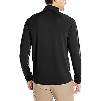 Charles River Apparel Men's Fusion Pullover Long Sleeve Quarter Zip, Black, XXL