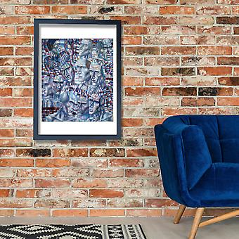 Pavel Filonov - Blue Faces Poster Print Giclee