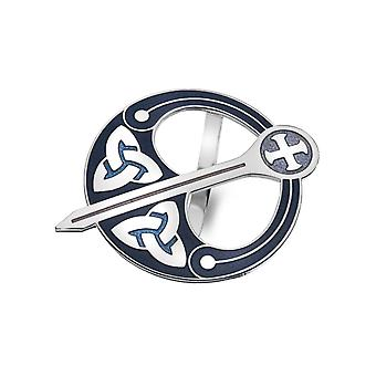 Celtic Trinity Knot Tara Purple Enamel Scarf Ring - Gift Boxed