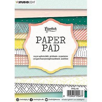 Studio Light 170gsm Paper Pad A6 36/Pkg-NR. 140, 12 Designs/3 Each