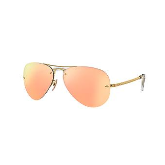 Ray-Ban RB3449 001/2Y Lunettes de soleil or/rose