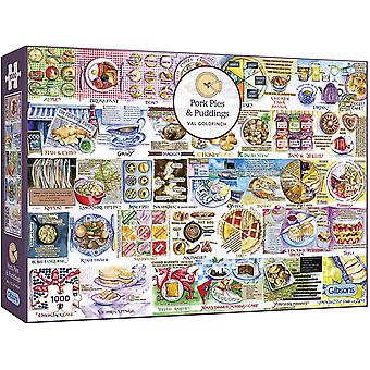 Gibsons 1000 Piece Pork Pies & Puddings Jigsaw Puzzle