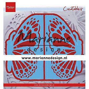 Marianne Design Creatables leikkaus kuolee - Portti taittuva Die Perhonen LR0638 73x135 mm